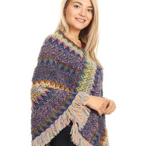 Sweaters - 🔥Fall-Winter Multicolor Knitted Pullover Poncho🔥